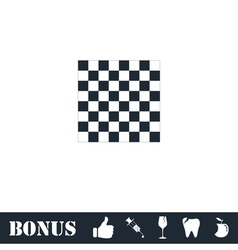Empty chess board icon flat vector
