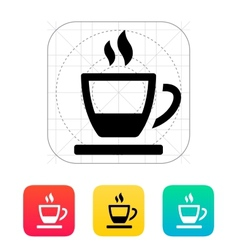 Ending tea cup icon vector image