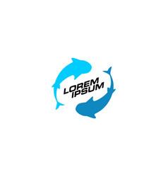 Fish trade trading logo icon vector