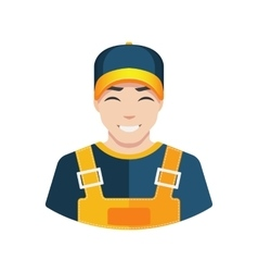 Flat warehouse and delivery or building worker vector