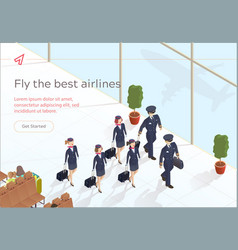 Fly best airlines aircraft crew vector