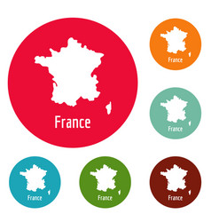 france map in black simple vector image