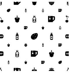 Freshness icons pattern seamless white background vector