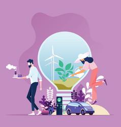 Green energy industry sustainable development vector