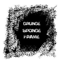 Grunge white sponge frame Textured vector