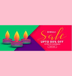 Happy diwali creative sale and offers banner vector