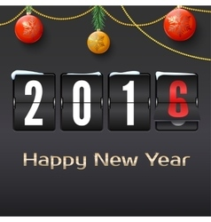 Happy new year 2016 card vector image