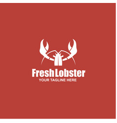 image with lobster vector image