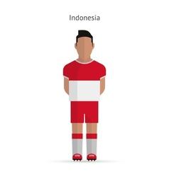 Indonesia football player soccer uniform vector