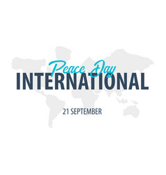 international peace day logo or emblem 21 vector image