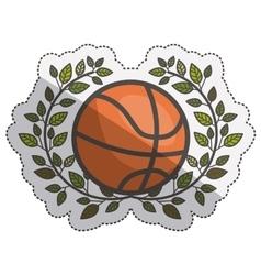 Isolated ball of basketball design vector