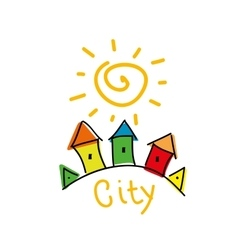 Logo city vector