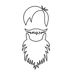Male avatar with beard icon outline style vector image
