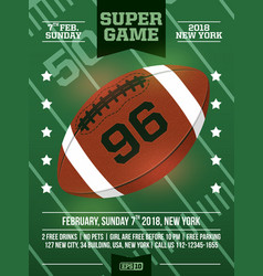 modern professional poster american football and vector image
