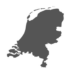 Netherlands map black icon on white background vector