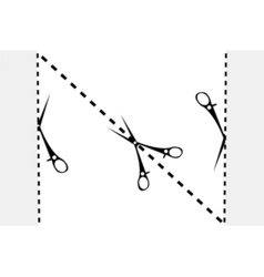 paper cut sketch vector image