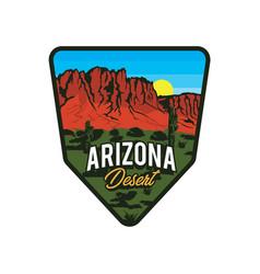 Patch design arizona desert logo design vector