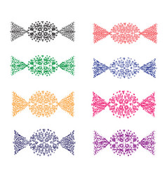 pattern colorful candy set vector image