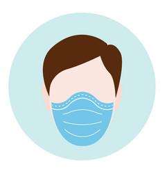Protective mask men vector