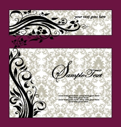 purple swirls frame wedding invitation vector image