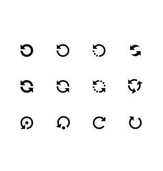 Refresh icon set vector