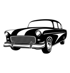 Retro muscle car vintage car old vector