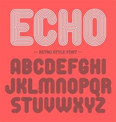 Retro style font alphabet vector