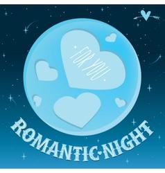 Romantic night under the moon vector