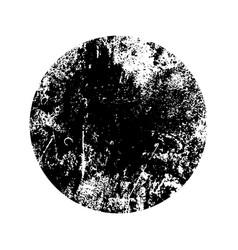 Round grunge texture vector