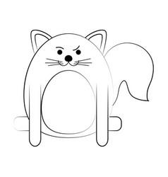 Rude face pet cat vector
