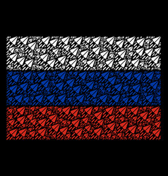 russia flag pattern of space ship objects vector image