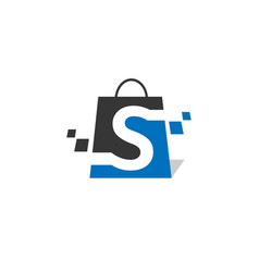 s letter shoping vector image