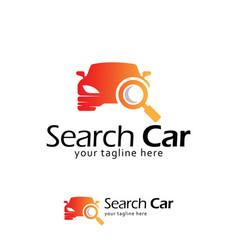 search car logo design template vector image