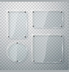 set glass frames on transparent vector image