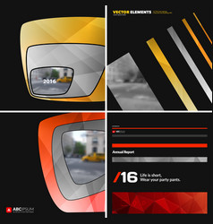 Set of abstract design elements for graphic vector
