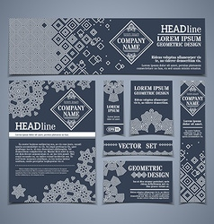 set of dark vintage design templates vector image