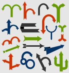 Set of retro arrows vector image