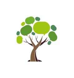 social connection tree logo icon vector image