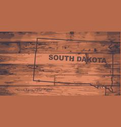 South dakota map brand vector