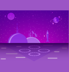 space base on the planet colonization futurism vector image vector image