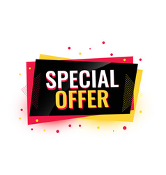 Special offer creative sale banner design vector