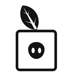 Square apple icon simple style vector