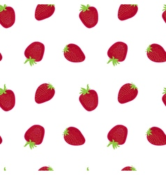Strawberry red white textile print seamless vector image