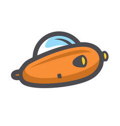 submarine diving boat icon cartoon vector image