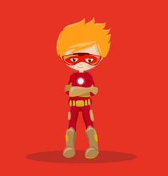 Super hero boy red ironman 15 vector