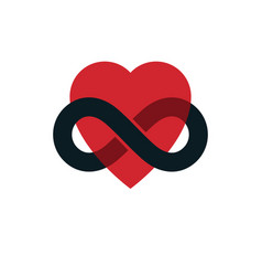 Timeless love concept symbol created vector