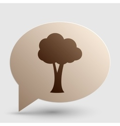 Tree sign Brown gradient icon on vector image