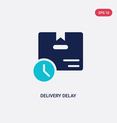 Two color delivery delay icon from delivery and vector