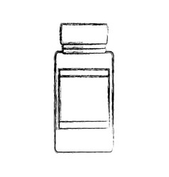 Uncolored glass canning jar vector