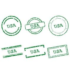 USA stamps vector image